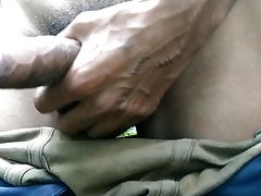 Indian big cock masturbation in outdoor handjob sex