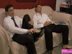 Businessman Foot Play