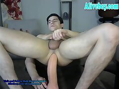 kinky guy loves toying ass on cam