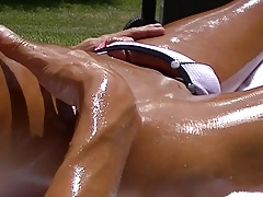 Public Masturbation, Cum Play & Swallow