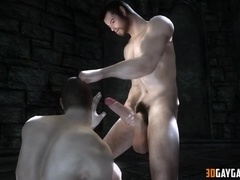 Vampire fucks human in the ass
