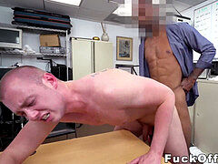 Real cracker bent over and ravaged by big black cock manager