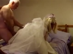 Young Crossdressing TV Bride gets Fucked on her Wedding