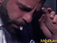 Suit daddy Hector De Silva pounds hunk after glory hole suck
