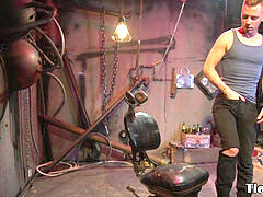 bondage & discipline sub punished by male domination with flogging