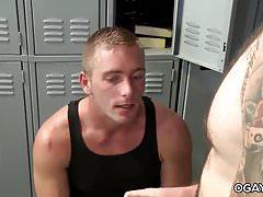Trey fucks his white friend in the locker room