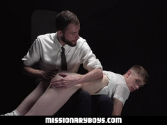 MissionaryBoyz - Cute Mormon Boy Gets His Ass Spanked