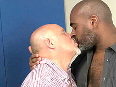 interracial daddies smooching session