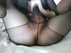 body pantyhose big cock
