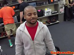 Straight black guys gay bj in pawnshop