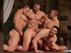 Hot big dick 3D gay guys fucking hard