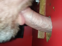 Gloryhole cum in mouth