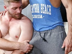 Muscle Boys Enjoy Gay Ass Fucking Session