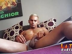 Latino blonde twink marco cruz enjoys a solo masturbation