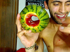 pounding a watermelon until I jizm inwards it - Camilo Brown