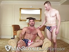 GayRoom Hunks Fuck In Celebration Of Labor Day