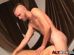 Punk amateur plays with his man before drilling his ass hard