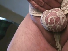 Lace Panty Ball Pouch Spanking