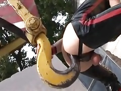 Latex Crane Dildo
