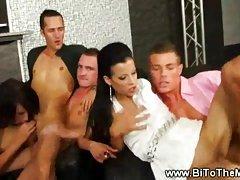 Bisexual Fiesta In Bar With Hotties