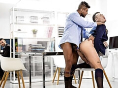 Hardcore office sex with Theo Ford and Diego Lauzen