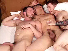 queerForced.com - Drunked Stud manhandled by Gay finest Friends Threesome