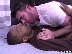 Str8 ebony wolf Cheats with Billy Santoro's pecker in Ass