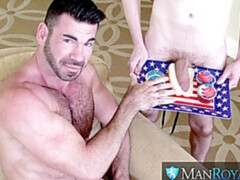 Labor Day anal with DILF Billy Santoro and Blake Ellis