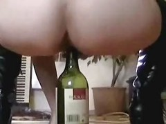 Riding A Wine Bottle On The Breakfast Table