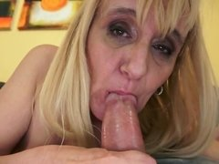 Old woman dates young guys who fuck her insatiable pussy so well