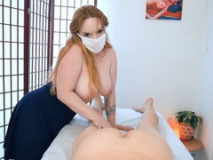 Redhead hottie with big boobs Summer Hart likes her lover's young dick