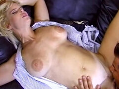 Blonde MILF in anal threesome with her husband and lover