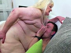 Very BIG BBW mom suck and fuck young cock