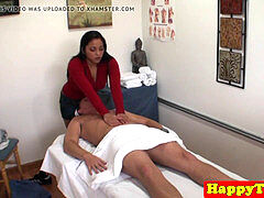 japanese masseuse masturbating and taunting client