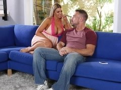 Dirty wife Brooklyn Chase fucks hubbys friend