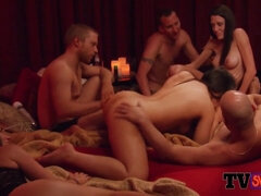 Steamy sexy swinger orgy with...