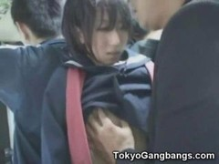 18-19 y.o. japanese coed undresses and additionally fingered by a businessman in a crowded bus in Tokyo!