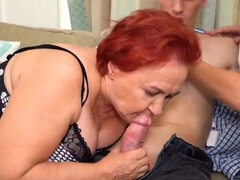 Nice Threesome Orgy with Old Sluts