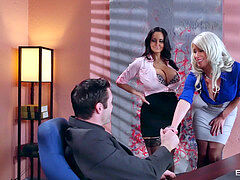 Described video – beautiful three-way in the Office - Brazzers