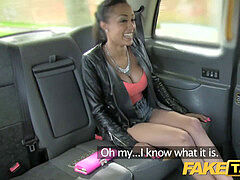 Fakecab Taxi driver gets successful twice with scorching babe