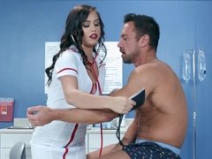 Nurse Alina Lopez gives a thug job & slides patient's dick in her pussy