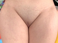 Kylie Quinn reveals her tiny clam and spreads her ass cheeks