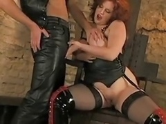 Leather Double ripping Rectal Group intercourse