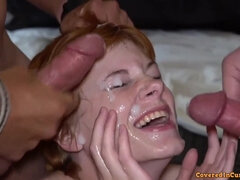 Beauty and the Blowbang - crazy cumshots collection