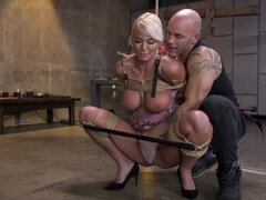 Pain Slut MILF London River Brutalized with Rough Sex and Rope Bondage