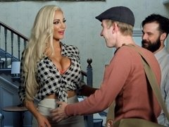 Busty Nicolette Shea gets huge hard shlong fuck from her brother in law