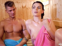 Sensual sex in the sauna and hot facial for beautiful Czech babe Alice Nice