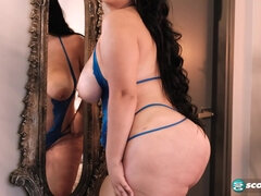 Bbw And Full-Breasted Latin Woman Playing