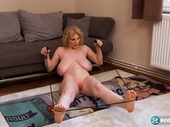 Buxom MILF Casey Deluxe Breastercising Video