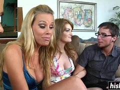 Giant Dicks Make Lovely Girls Happy - foursome sex